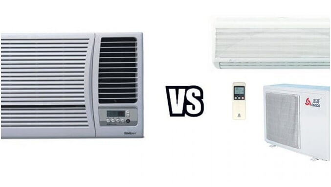What is the difference between Split AC and Window AC?